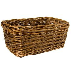 Small Square Edged Willow Basket Hamper Basket, Wicker Baskets, Empty, Trays, Basket