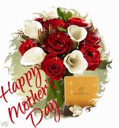 happy mothers day card | ... www.glitters123.com/mothers-day/red-and-white-roses-happy-mothers-day