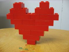 lego/duplo love - how to make a heart of Valentine's day.want to do a lego session with Logan for his birthday Lego Duplo, Legos, Modele Lego, Lego Valentines, Lego Club, Lego For Kids, Crafts For Kids, Diy Crafts, Lego Worlds