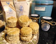 Grainy goodness....our new Whole Wheat Biscuit Mix and Granny's  Blackberry Biscuit Jam.