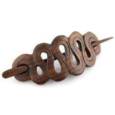 "Evolatree - Hand Carved Sono Wood Inverted Loop Drop Hair Pin Barrette - 4"" Evolatree http://www.amazon.com/dp/B005ED7O48/ref=cm_sw_r_pi_dp_ODARub0QG3RX6"
