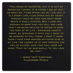 Jem Carstairs. My love.