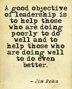 Jim Rohn Quote: Objective of Leadership