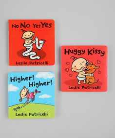 Take a look at this Higher Higher, Huggy Kissy & No No Yes Yes Board Book Set by Random House on #zulily today!