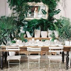 The Cream Event Los Angeles 2016 at Cooper Design Space (Green Wedding Shoes) Wedding Plants, Wedding Flowers, Wedding Bouquets, Plantas Indoor, Reception Decorations, Table Decorations, Centrepiece Ideas, Flower Centerpieces, Wedding Centerpieces