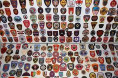 1,350+ police patch collection federal state local foreign swat.
