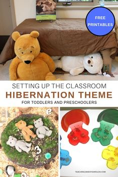 The toddler preschool hibernation theme is a perfect time to talk about temperature and where animals go when it's cold outside. Invite your children to climb into a pretend bear's den, make a cave out of paper bowls, and read some fun bear books! Preschool Learning Activities, Animal Activities, Preschool At Home, Preschool Themes, Toddler Preschool, Preschool Activities, Winter Activities, Preschool Teachers, Preschool Winter