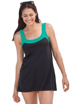Swim 365 Plus Size Swimsuit, 2-Piece Tunic Swimsuit - Listing price: $79.99 Now: $39.99