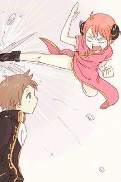 Cute Chibi Couple, Okikagu Doujinshi, Silver Samurai, Fairy Tail Ships, Another Anime, Tsundere, Cute Anime Couples, Manga Pictures, Anime Ships
