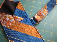 necktie wristlet DIY TUTORIAL