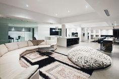 Living Room with enormous bean bag