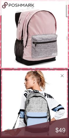 Victorias Secret PINK Campus Backpack Pink Large NWT Victorias Secret PINK Campus Backpack Pink Large - this color is no longer available online. Your backpack is Photo #1!! photo #2 is showing the same bag in a different color. PINK Victoria's Secret Bags Backpacks