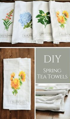 DIY Spring Tea Towel