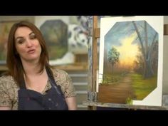 Along the Evening Path Landscape Oil Painting - Paint with Maz - YouTube