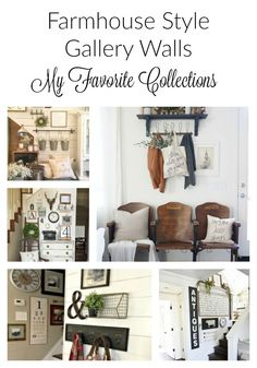 "Two Things I can assure you of in today's design trends... One, the word  ""farmhouse"" is now a decorating style and two, all the cool kids have a  gallery wall! Want to really tip the trend scale?  How about a farmhouse  style, gallery wall!?  Epic design choice my friend!"
