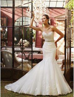 Sweet Heart Neck Lace Wedding Dress by TheWeddingShopUK on Etsy, £192.98