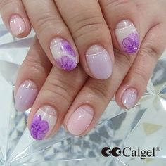 Today's Calgel nails Colors CG01 CGPU01+CG01 CG51+CG01 #Calgel #MogaBrookUSA #GelNails #NailArt #Calgelus #Nail #Nails #Pink # Purple #Fashion #Art #naildesign #beauty #SoftGelNail #SoftGel
