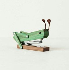 "That is one cool looking stapler! ""Cricket"". lol."