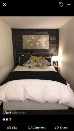 Shiplap Headboard, Rustic, Bedroom, Diy, Furniture, Home Decor, Country Primitive, Decoration Home, Rustic Feel
