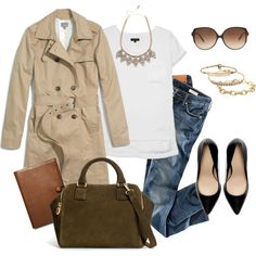 A fashion look from January 2014 featuring rag & bone t-shirts, Madewell coats et H&M jeans. Browse and shop related looks.