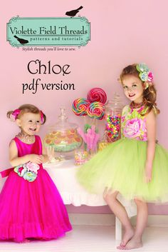 Chloe Dress PDF Pattern, For my wee flower girl?