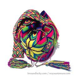 Wayuu Mochila Bag. Standard Size 11H x 9W.  by loveandlucky