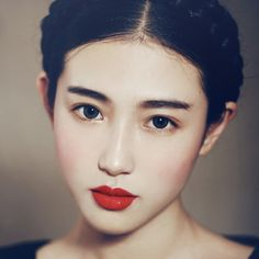 zhang xin yuan - the least someone could do is tell us that beautiful shade of lipstick!