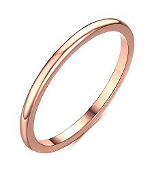 2mm Thin Tungsten Wedding Bands for Women Rose Gold/Silvery Domed Slim Engagement Promise Ring Comfort Fit