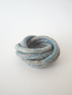 Felted Bracelet Twisted Chunky Blue Multicolor Modern by cherdak. I LOVE these colours