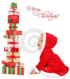 5a0d1c6bb90 Christmas baby with gifts stock photo. Image of happy - 16181988