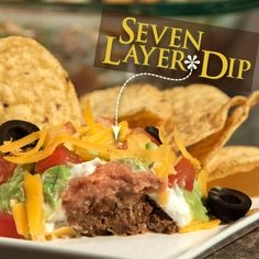 Seven Layer Dip is a game-day classic for a good reason--it's so good! Be sure to include this in your spread