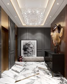 Portfolio: Luxury apartment in Moscow Lobby Interior, Luxury Homes Interior, Luxury Home Decor, Apartment Interior, Apartment Design, Home Room Design, Home Interior Design, Neoclassical Interior Design, Books Decor