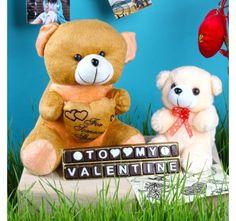 My Valentine Homemade Chocolate with Teddy Bear