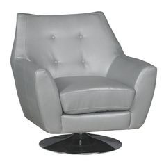 Ontario 35 Thomas Gray Upholstered Swivel Chair