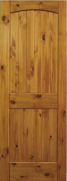 Modern 4-Panel Knotty Pine Interior Wood Door Slab ...