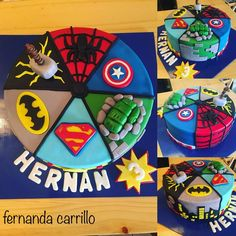 3 Year Old Birthday Party Boy, Lego Birthday Party, Baby Boy Birthday, 3rd Birthday, Birthday Ideas, Avengers Birthday Cakes, Superhero Birthday Cake, Superhero Party, Lego Superhero Cake