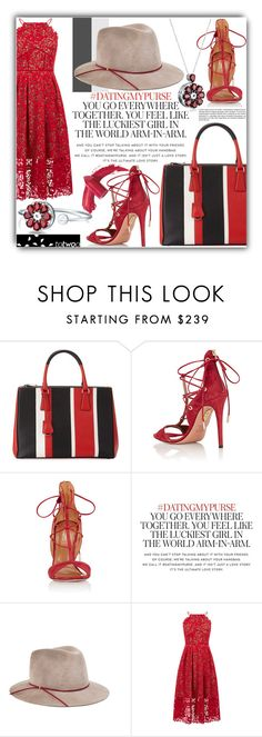 """""""That's My Bestfriend..."""" by eclectic-chic ❤ liked on Polyvore featuring Prada, Aquazzura, Kate Spade, Eugenia Kim, Warehouse and Elizabeth Arden"""