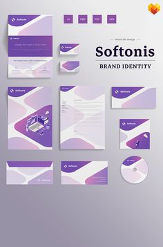 Take a closer look at this Softonis Company Branding Design Corporate Identity Template ( and you might fall in love with it. Clean, professional and straightforward design. Corporate Identity Design, Brand Identity Design, Branding Design, Corporate Business, Visual Identity, Business Leaflets, Cd Cover Design, A4 Poster, Leaflet Design