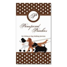 Brown Pet Sitting Dog Walking Walker Business Card. This is a fully customizable business card and available on several paper types for your needs. You can upload your own image or use the image as is. Just click this template to get started!