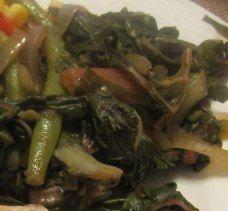 Swiss Chard and Green Bean Stew   via Jessica Fishman Levinson, MS, RD, CDN