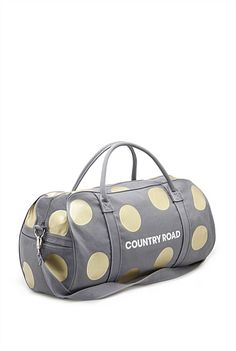 Large Spot Logo Tote, Grey & Gold - $79.95 Canvas Bags, Grey And Gold, Birthday Presents, Goodies, Tote Bag, Country, Logos, Accessories, Etsy
