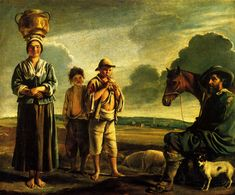Artist: Le Nain brothers Place of Creation: Paris, France Style: Baroque Genre: genre painting Tags: children, shepherds, sheep