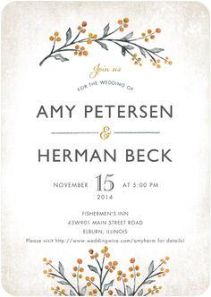 Wedding invite design