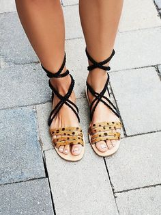 Wrap sandals are everywhere this season. Choose a pair that best fits your style!