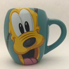 Disney Pluto Coffee Mug Disney Theme Parks Woof! Names For Boyfriend, Disney Mugs, Disney Theme, Men Design, Disney Vacations, Teal Green, Sharpie, Custom Mugs, Coffee Cups