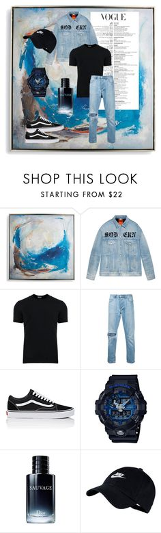 """""""Denim👖"""" by chittaul27 ❤ liked on Polyvore featuring Frontgate, Gucci, Dolce&Gabbana, ExInfinitas, Vans, Baby-G, Christian Dior, NIKE, men's fashion and menswear"""