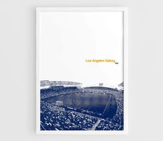 Los Angeles Galaxy StubHub Center MLS Football Poster  A3