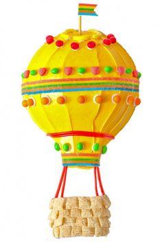 Hot Air Balloon Birthday Cake Design How to make a hot air balloon birthday cake with Runts Balloon Birthday Cakes, Cool Birthday Cakes, Balloon Party, Birthday Ideas, Summer Birthday, Birthday Stuff, Baby Birthday, Spring Cake, Summer Cakes