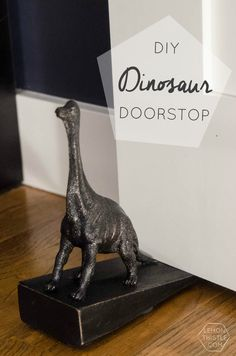 This DIY Dinosaur Door Stop is not only adorable and functional- but it's a knock off of a $24 Anthropologie door stop. And it only cost me $3 said and done