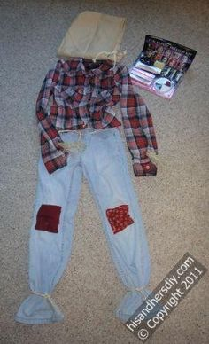 DIY Men Halloween Costumes : How to Make a Scarecrow Costume